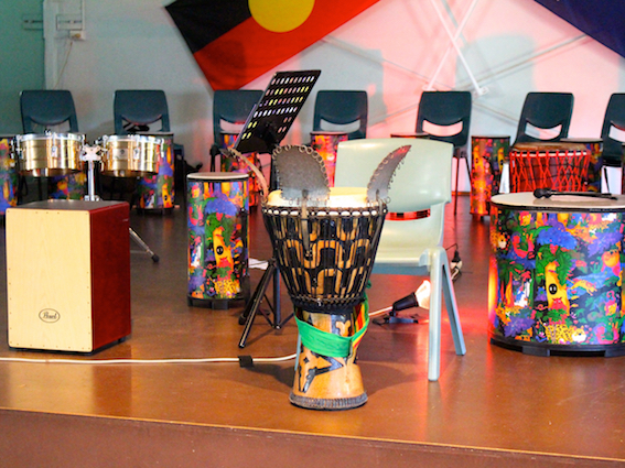 drumming concert equipment for school kids